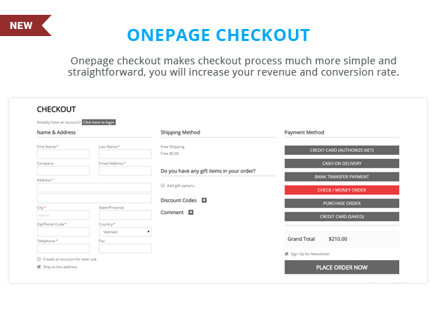 Sawyer - Onepage checkout